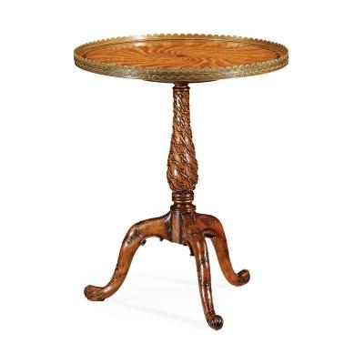 Jonathan Charles Spiral Inlay Lamp Table