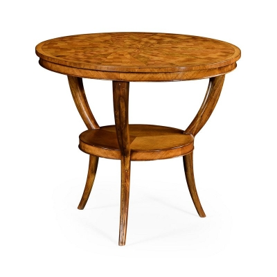 Jonathan Charles Two Tier Marquetry Centre Table