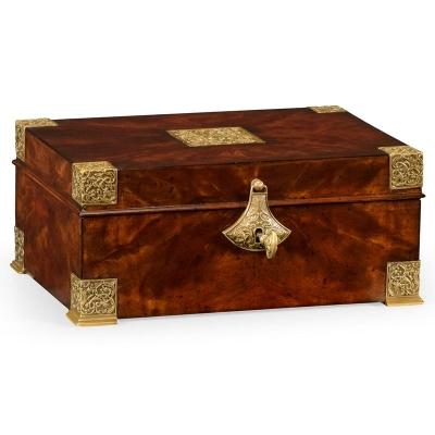 Jonathan Charles Lockable Deeds Style Box Mahogany