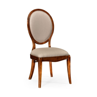 Jonathan Charles Spoon Back Upholstered Dining Chair Side