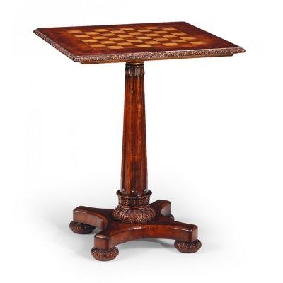 Jonathan Charles William IV Mahogany Pedestal Games Table