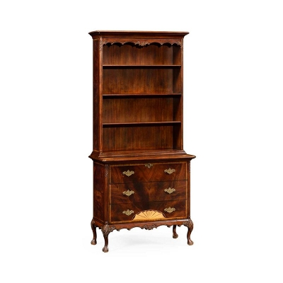 Jonathan Charles Mahogany Tall Bookcase