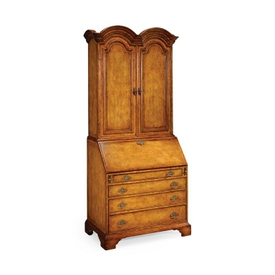 Jonathan Charles Queen Anne Bureau Cabinet with Panelled Doors