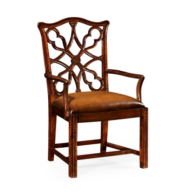 Jonathan Charles Mahogany inch Gothic inch Chair Arm