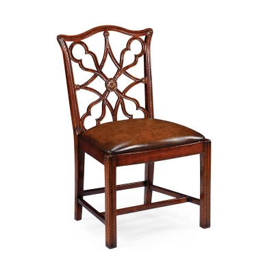 Jonathan Charles Mahogany inch Gothic inch Chair Side