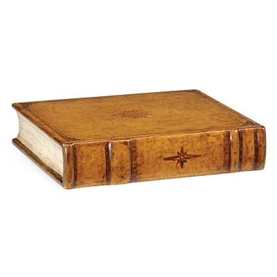 Jonathan Charles Leather Faux Book Box