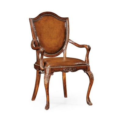 Jonathan Charles Shield Back Mahogany Armchair
