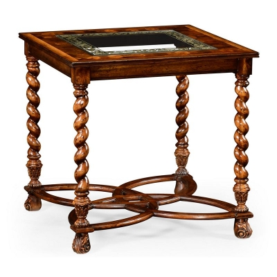 Jonathan Charles Oyster and Eglomise Side Table 26 inch
