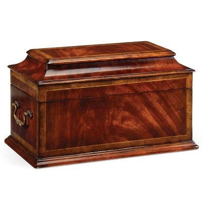 Jonathan Charles Crotch Mahogany Coffer Box