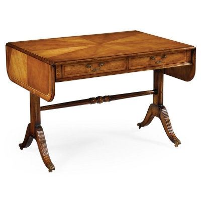 Jonathan Charles Regency Satinwood Folding Library Table