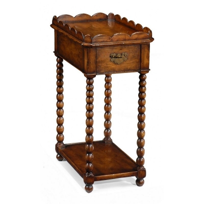 Jonathan Charles Queen Anne Rectangular Lamp Table