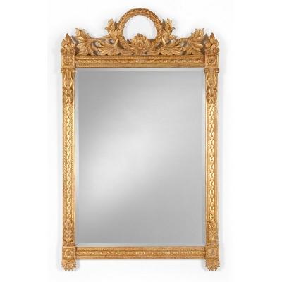 Jonathan Charles Empire Style Gilded Mirror