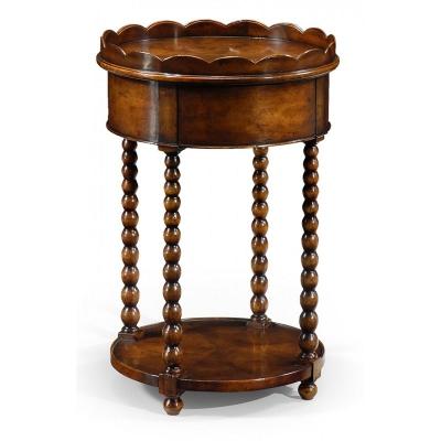 Jonathan Charles Bobbin Turned Round Lamp Table