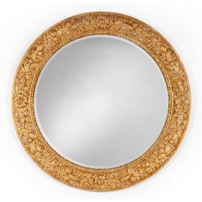 Jonathan Charles Large Circular Gilded Mirror