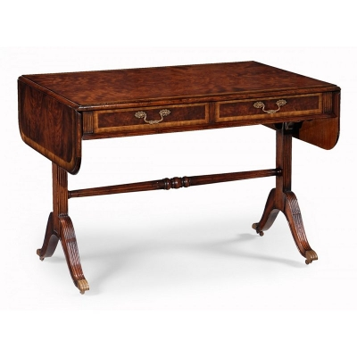 Jonathan Charles Regency Mahogany Folding Library Table