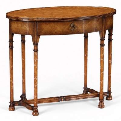 Jonathan Charles inch Gothic inch Walnut Side Table
