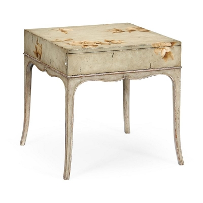 Jonathan Charles Painted Floral Square Side Table