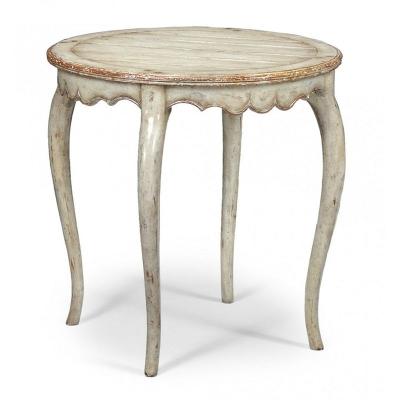 Jonathan Charles Grey Rub Through Round Side Table