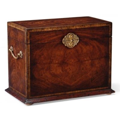 Jonathan Charles Crotch Mahogany Jewellery Tall Box