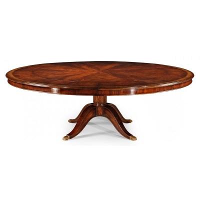 Jonathan Charles 66 inch Mahogany Extending Circular Dining Games Table