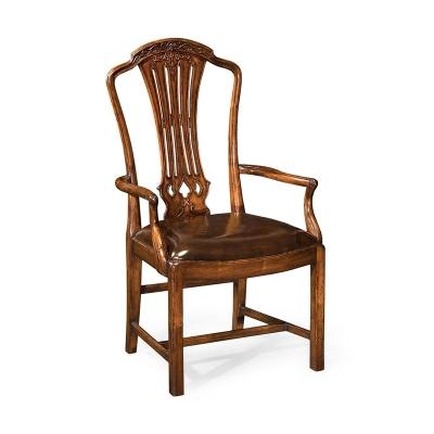 Jonathan Charles Mahogany Pierced Splat Back Chair Arm