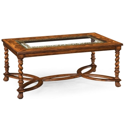 Jonathan Charles Rectangular Oyster and Eglomise Coffee Table