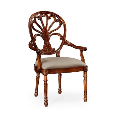 Jonathan Charles Mahogany Arm Chair