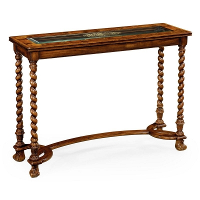Jonathan Charles Oyster and Eglomise Console