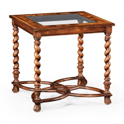 Jonathan Charles Oyster and Plain Glass Side Table