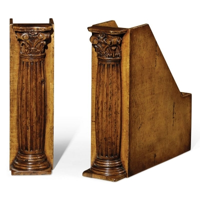 Jonathan Charles Pair of Box File Bookends Corinthian Columns