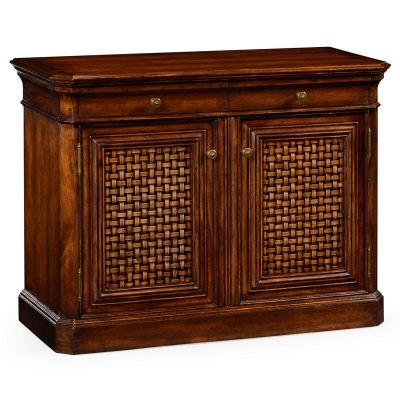 Jonathan Charles Side Cabinet with Latticework Doors