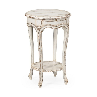 Jonathan Charles French Small Round Lamp Table White