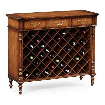 Jonathan Charles Walnut Free Standing Wine Cabinet