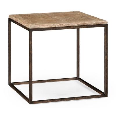 Jonathan Charles Limed Iron Side Table