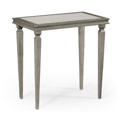Jonathan Charles Italian Silver Rectangular Side Table