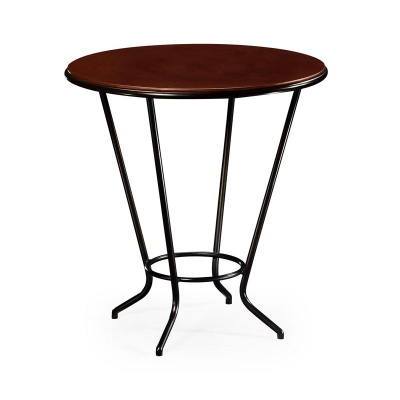 Jonathan Charles Leather Top and Bronze Iron Side Table
