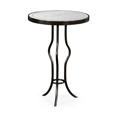 Jonathan Charles Eglomise and Bronze Iron Round Wine Table