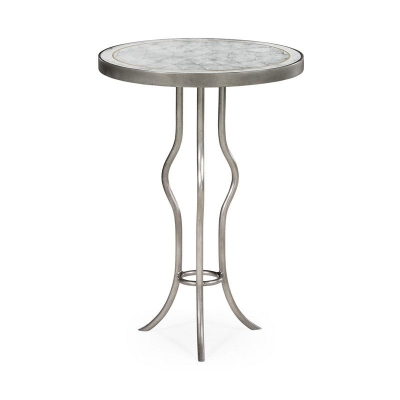 Jonathan Charles Eglomise and Silver Iron Round Wine Table