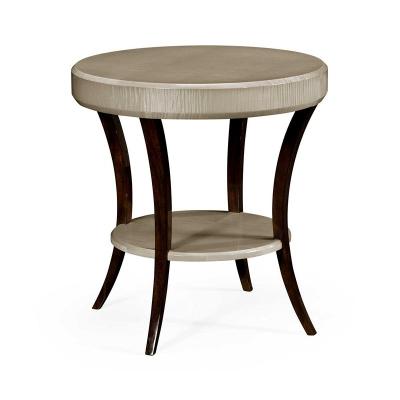 Jonathan Charles Opera Art Deco Round Side Table
