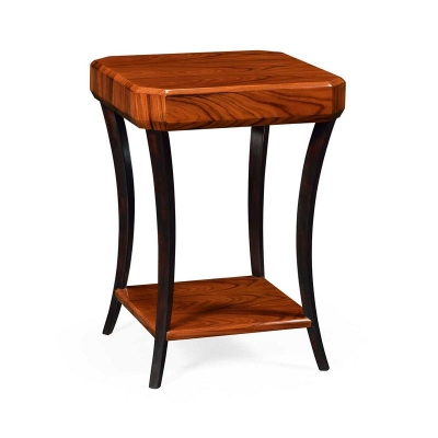 Jonathan Charles Art Deco Square Side Table High Lustre