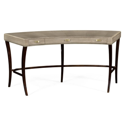 Jonathan Charles Opera Art Deco Curved Desk with Drawers and Brass Handles