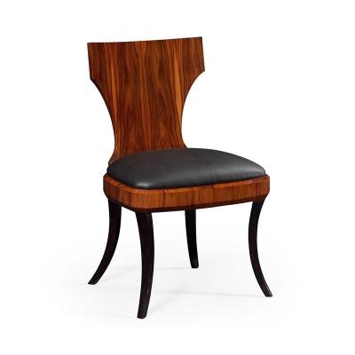 Jonathan Charles Art Deco Klismos Side Chair High Lustre