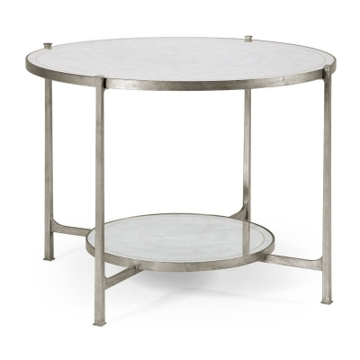 Jonathan Charles Transitional Silver Iron Centre Table