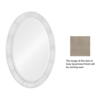Jonathan Charles Opera Art Deco Oval Mirror
