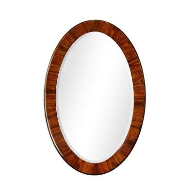 Jonathan Charles Art Deco Oval Mirror Satin