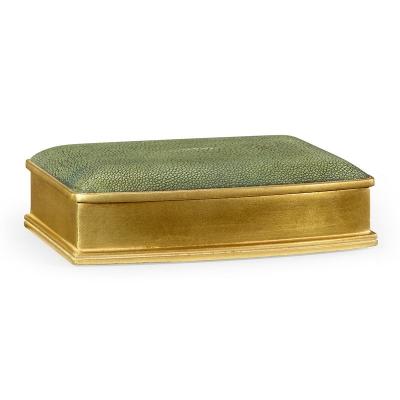 Jonathan Charles Green Faux Shagreen Gilded Box