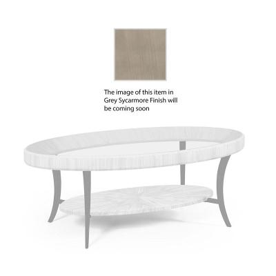 Jonathan Charles Opera Art Deco Oval Coffee Table with Glass Top
