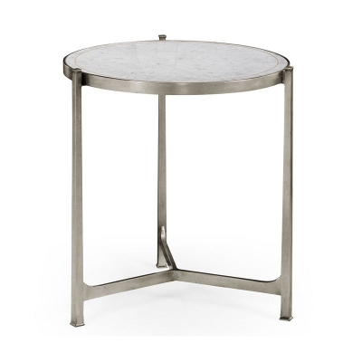 Jonathan Charles Eglomise and Silver Iron Lamp Table Large