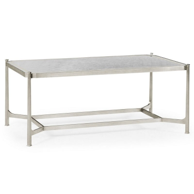 Jonathan Charles Eglomise and Silver Iron Rectangular Coffee Table
