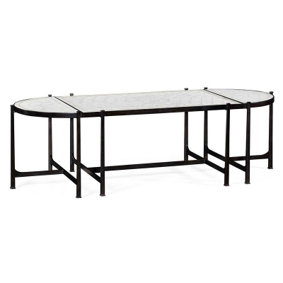 Jonathan Charles Eglomise and Bronze Iron Bunching Tables